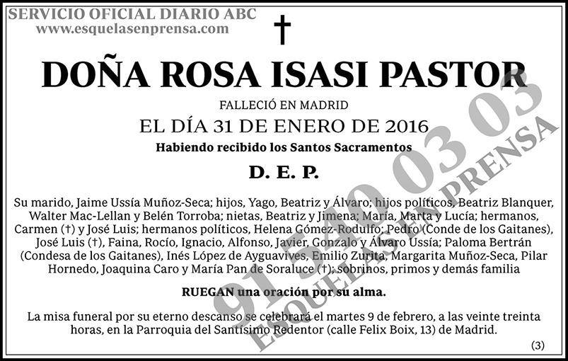 Rosa Isasi Pastor